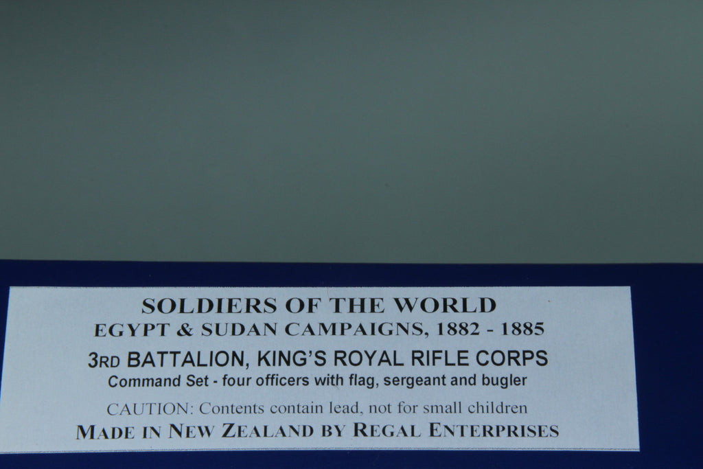SC91 - 3rd Battalion, King's Own Rifle Corps Command Set for the Sudan War of 1882-1885 from Regal of New Zealand