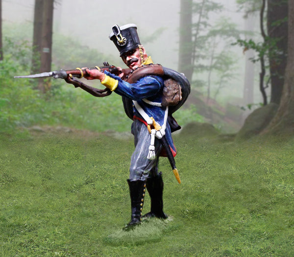 CS00896 - Prussian Infantry Soldier standing Firing, Prussian and British Napoleonic - Piers Christian Toy Soldiers