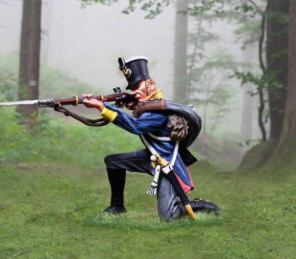 CS00897 - Prussian Infantry Soldier Kneeling Firing, Prussian and British Napoleonic - Piers Christian Toy Soldiers