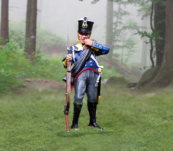 CS00899 - Prussian Infantry Soldier Re-loading, Prussian and British Napoleonic - Piers Christian Toy Soldiers