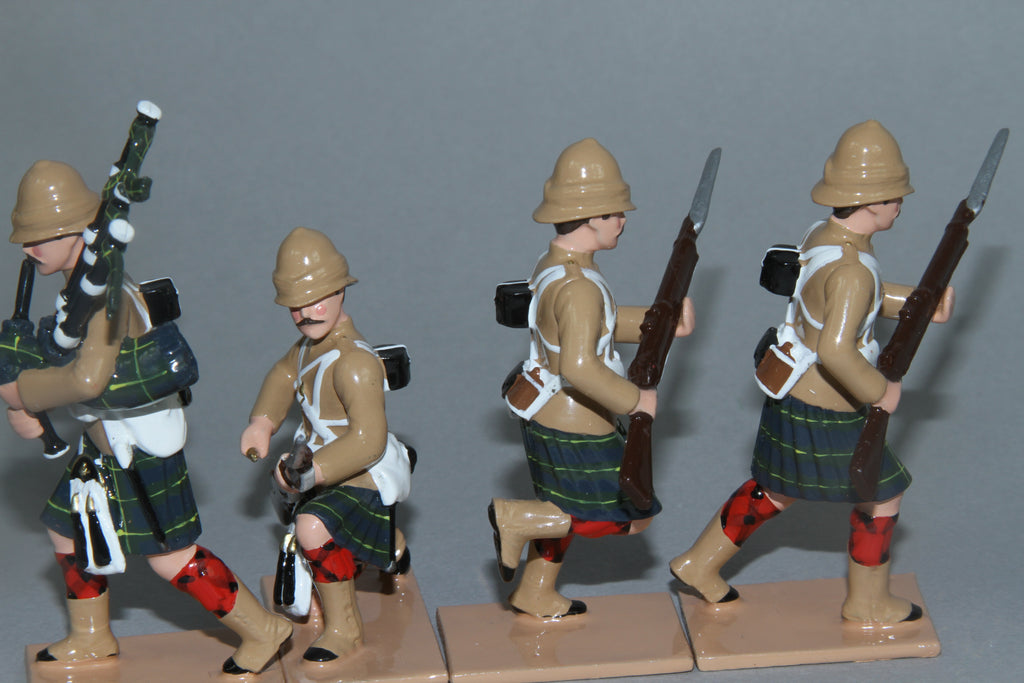 HR15C - 1st Battalion Gordon Highlanders with Khaki Tunics from Regal Toy Soldiers