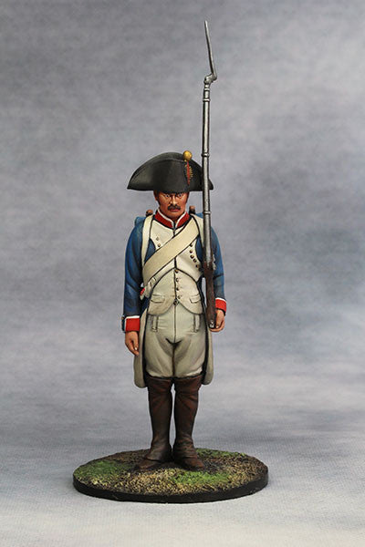 YZ90016 - Napoleonic French Infantry at attention, from YZCaesar - Piers Christian Toy Soldiers - 1
