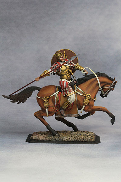 YZ75001 - Mounted Roman Cavalryman (4th Century A.D.), 75mm scale made by YZCaesar - Piers Christian Toy Soldiers - 2