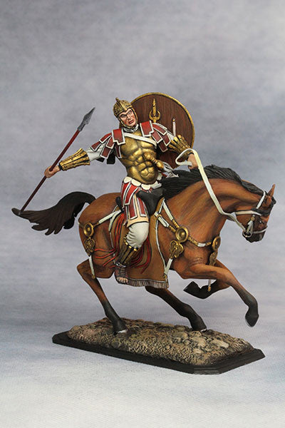 YZ75001 - Mounted Roman Cavalryman (4th Century A.D.), 75mm scale made by YZCaesar - Piers Christian Toy Soldiers - 3