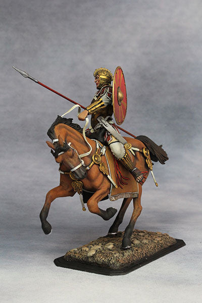YZ75001 - Mounted Roman Cavalryman (4th Century A.D.), 75mm scale made by YZCaesar - Piers Christian Toy Soldiers - 4