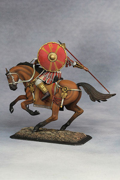 YZ75001 - Mounted Roman Cavalryman (4th Century A.D.), 75mm scale made by YZCaesar - Piers Christian Toy Soldiers - 5