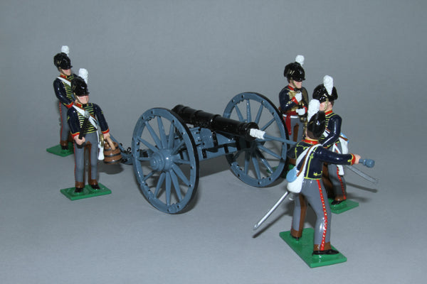 N412A - Napoleonic Royal Horse Artillery with 6 pounder cannon from Regal Toy Soldiers