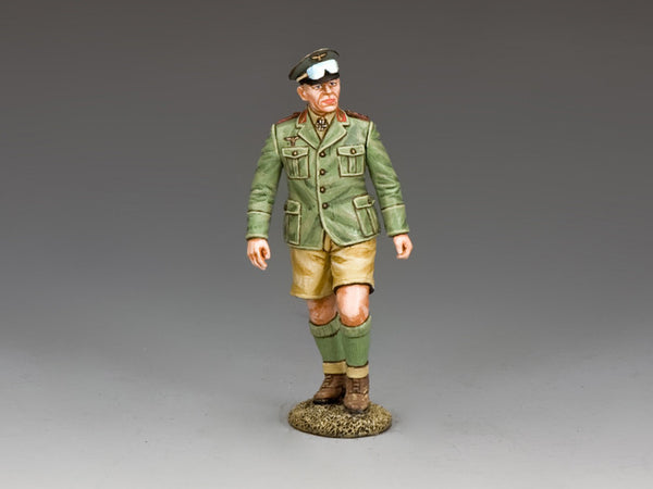 AK108 - Erwin Rommel on Inspection, Afrika Korps - Piers Christian Toy Soldiers