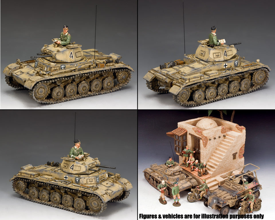 AK113 - Panzer II Ausf B, 21st Panzer Div, Afrika Korps - Piers Christian Toy Soldiers - 2