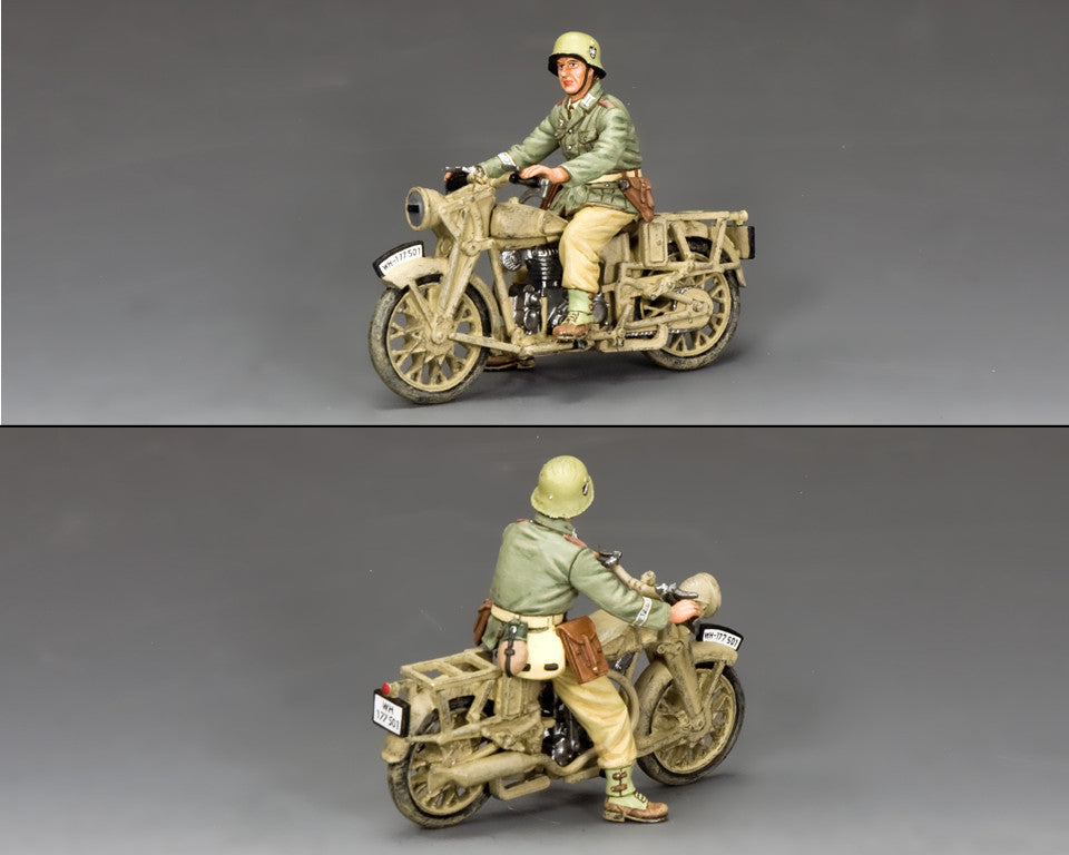 AK114 - Afrika Korps BMW Motorcycle from King & Country - Piers Christian Toy Soldiers - 2
