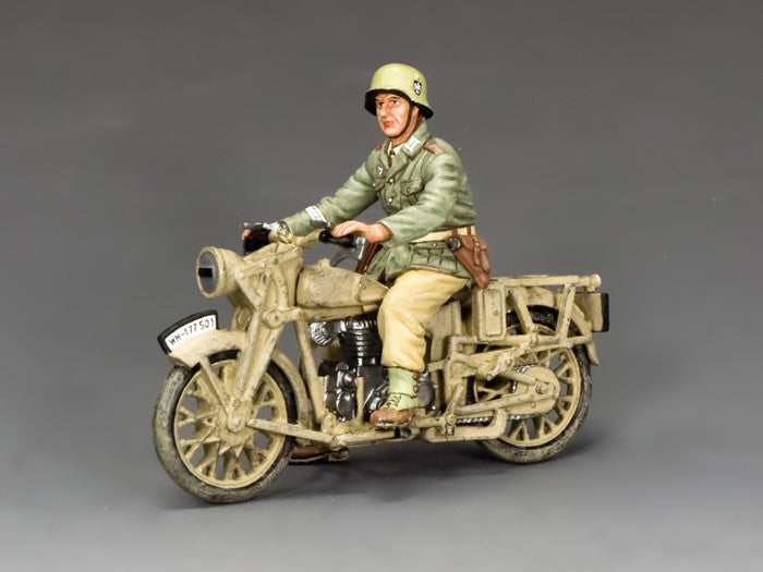 AK114 - Afrika Korps BMW Motorcycle from King & Country - Piers Christian Toy Soldiers - 1