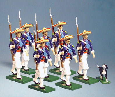 BG167A Beau Geste French Foreign Legion Marching with Sombreros, Mexico 1863 - Piers Christian Toy Soldiers
