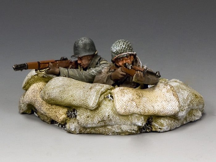 BBA076 - 'Supporting Fire' Battle of the Bulge American - Piers Christian Toy Soldiers