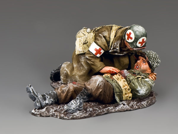 BBA079 - 'Seriously Wounded' Battle of the Bulge American from King & Country - Piers Christian Toy Soldiers