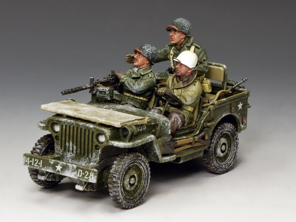 BBA084 - The Winter Jeep, Battle of the Bulge American - Piers Christian Toy Soldiers
