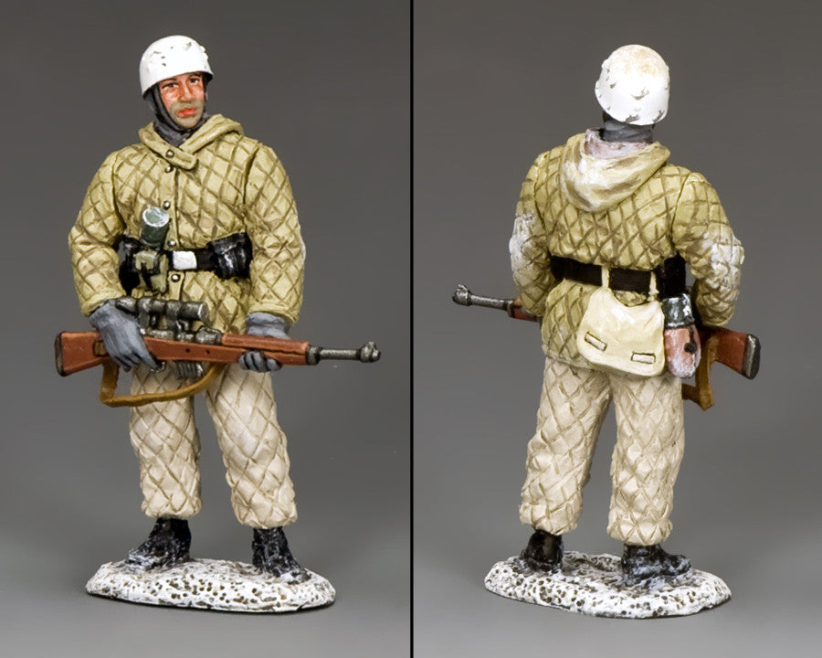 BBG107 - Fallschirmjager Sniper, Battle of the Bulge German - Piers Christian Toy Soldiers - 2