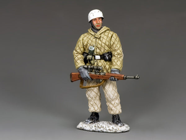 BBG107 - Fallschirmjager Sniper, Battle of the Bulge German - Piers Christian Toy Soldiers - 1