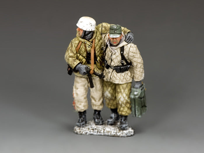 BBG109 - 'Falling Back', Fallschirmjager, Battle of the Bulge German from K&C - Piers Christian Toy Soldiers