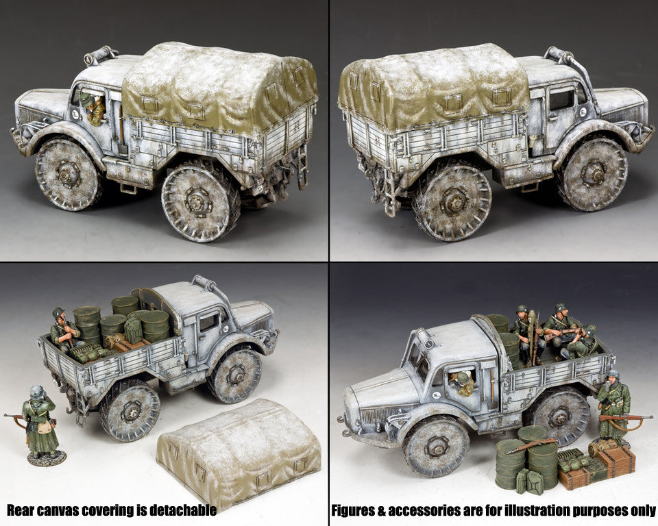 BBG111 - SKODA Radschlepper Ost - Battle of the Bulge German vehicle - Piers Christian Toy Soldiers - 2