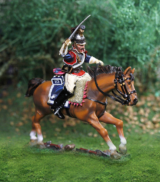 CS00809 French Napoleonic Curassier Officer - Piers Christian Toy Soldiers - 1
