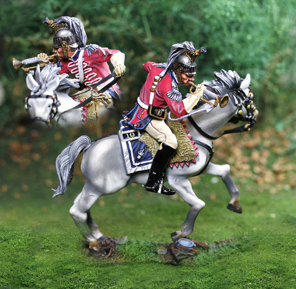 CS00812 - French Napoleonic Curassier Bugler - Piers Christian Toy Soldiers - 1