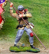 CS00823 - ACW Confederate Standard Bearer - Piers Christian Toy Soldiers