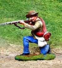 CS00825 - ACW Confederate Soldier Kneeling Firing - Piers Christian Toy Soldiers