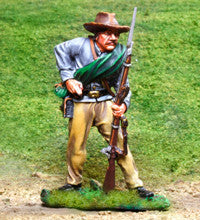 CS00826 - ACW Confederate Soldier Re-loading - Piers Christian Toy Soldiers