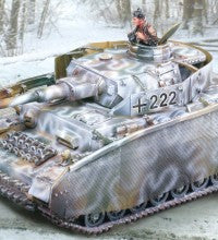 CS00832 - PzKfw IV J With Thoma Shutzehn, German WWII Winter - Piers Christian Toy Soldiers