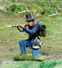 CS00848 ACW Union 2nd Wisconsin, Kneeling Shooting - Piers Christian Toy Soldiers