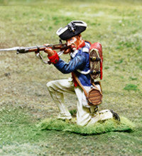 CS00856 - AWI American Continental Soldier Kneeling Shooting - Piers Christian Toy Soldiers