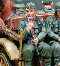 CS00877 - Heer Infantry Limber Passenger wearing Feldmutze. German WWII Normandy - Piers Christian Toy Soldiers - 1