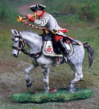 CS00884 - AWI British 17th Dragoons Trumpeter - Piers Christian Toy Soldiers