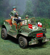 CS00914 -  General Patton's Dodge Jeep with General Patton and Willy. Normandy - Piers Christian Toy Soldiers - 1