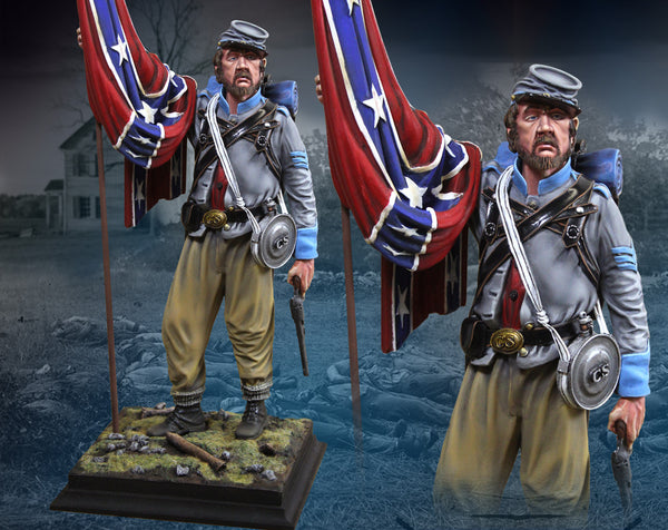 CS60007 ACW Confederate Flag Bearer 1/6th Scale from The Collectors Showcase 1/6th scale series - Piers Christian Toy Soldiers