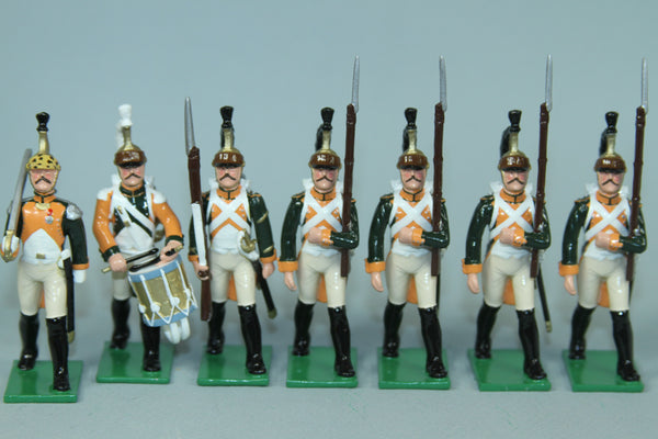 N505 - Napoleonic 28th Regiment of Dragoons March attack, Regal Toy Soldiers
