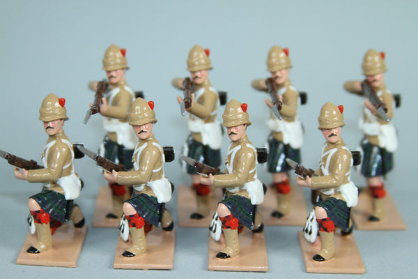 HR7F - 42nd Highlanders line set in Khaki tunics from Regal Toy Soldiers