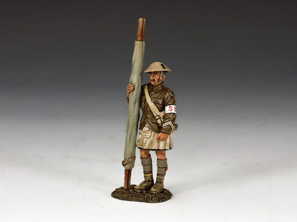 FW161 - Standing Strecher Bearer, First World War British from King & Country - Piers Christian Toy Soldiers