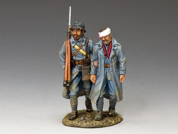 "FW178 - Two ""horizon bleu"" First World War French from King & Country - Piers Christian Toy Soldiers"