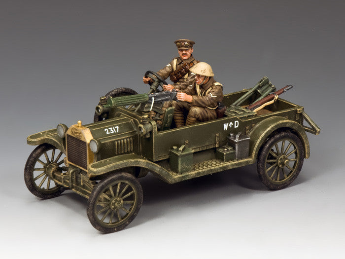 FW188 - Ford Model T Vickers Machine Gun Carrier, First World War British - Piers Christian Toy Soldiers