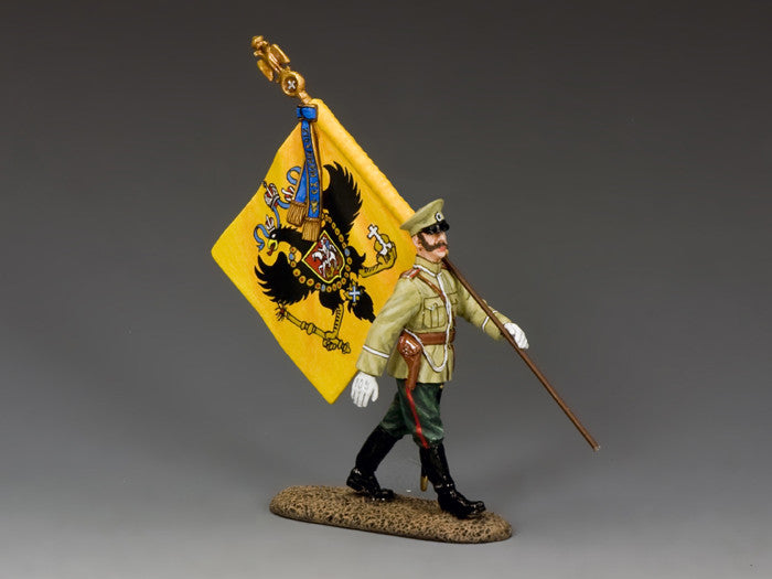 FW208 -  Imperial Russian Flag bearer, First World War Russian from King & Country - Piers Christian Toy Soldiers