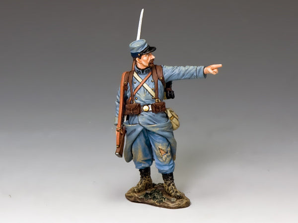 FW224B - 'The Pointing Poilu', First World War French Soldier from King & Country - Piers Christian Toy Soldiers