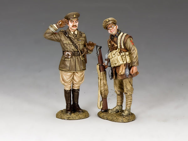 FW226 - Capt. Edmund Blackadder & Pvt. Baldrick, The First World War - Piers Christian Toy Soldiers
