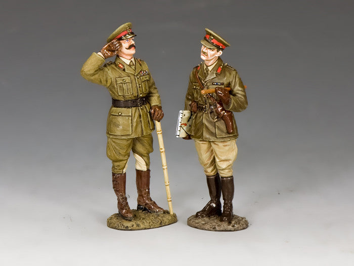 FW228 - Gen. Melchett & Capt. Darling, The First World War from King & Country - Piers Christian Toy Soldiers