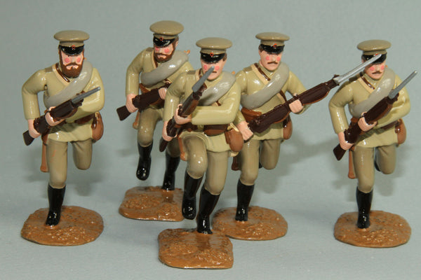 WW87B - Russian Infantry Charging and Running, from Regal - Piers Christian Toy Soldiers - 1