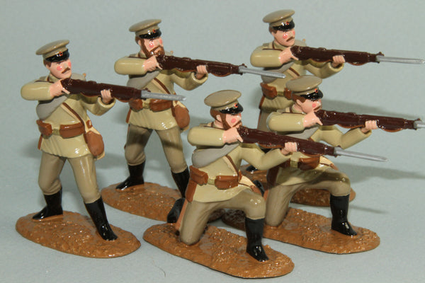 WW87A - Russian Infantry firing, 1914-18. From Regal Toy Soldiers - Piers Christian Toy Soldiers - 1
