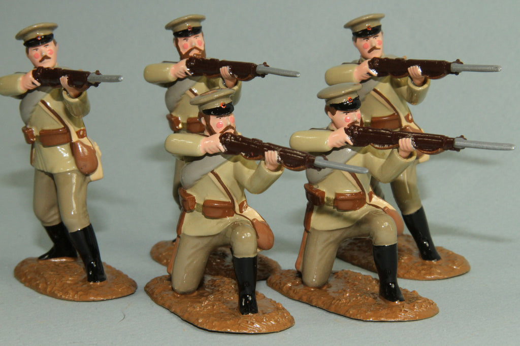 WW87A - Russian Infantry firing, 1914-18. From Regal Toy Soldiers - Piers Christian Toy Soldiers - 2