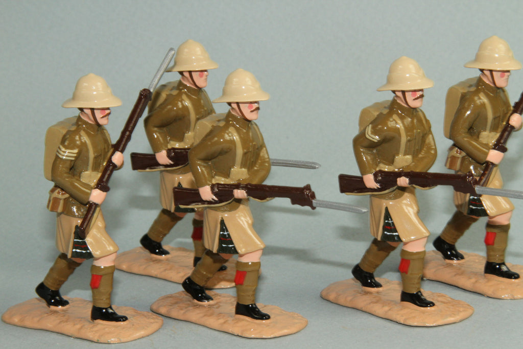 WW128 - Great War British Highland Light Infantry, Gallipoli 1915. From Regal - Piers Christian Toy Soldiers - 1