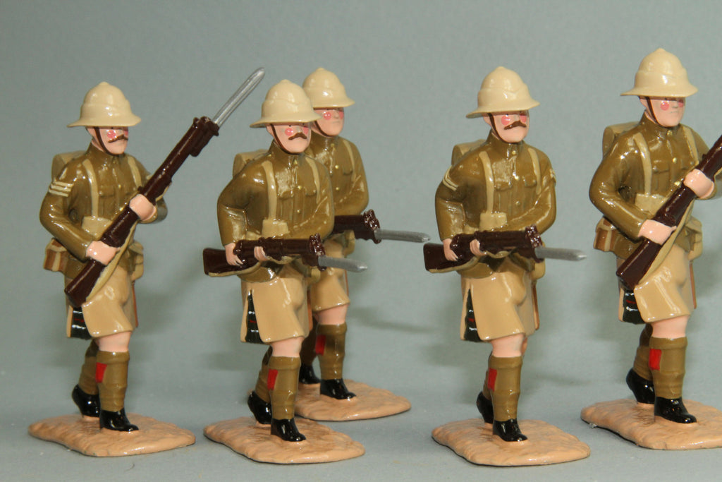 WW128 - Great War British Highland Light Infantry, Gallipoli 1915. From Regal - Piers Christian Toy Soldiers - 2