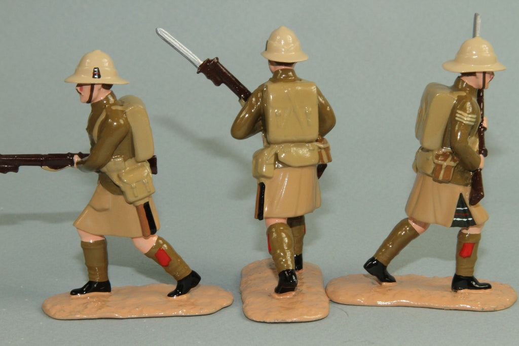 WW128 - Great War British Highland Light Infantry, Gallipoli 1915. From Regal - Piers Christian Toy Soldiers - 3
